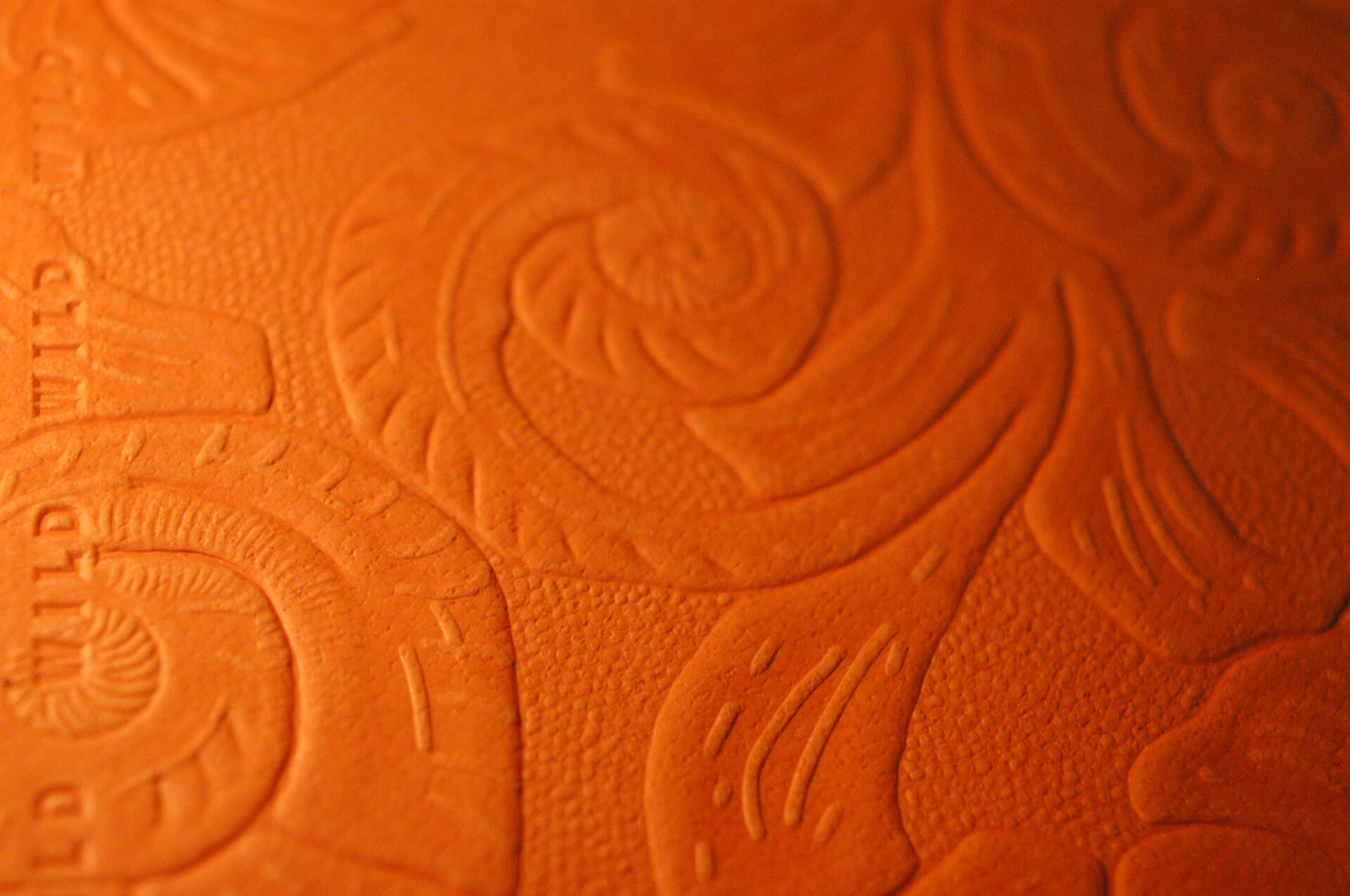Relief blind embossing for a paper samples book
