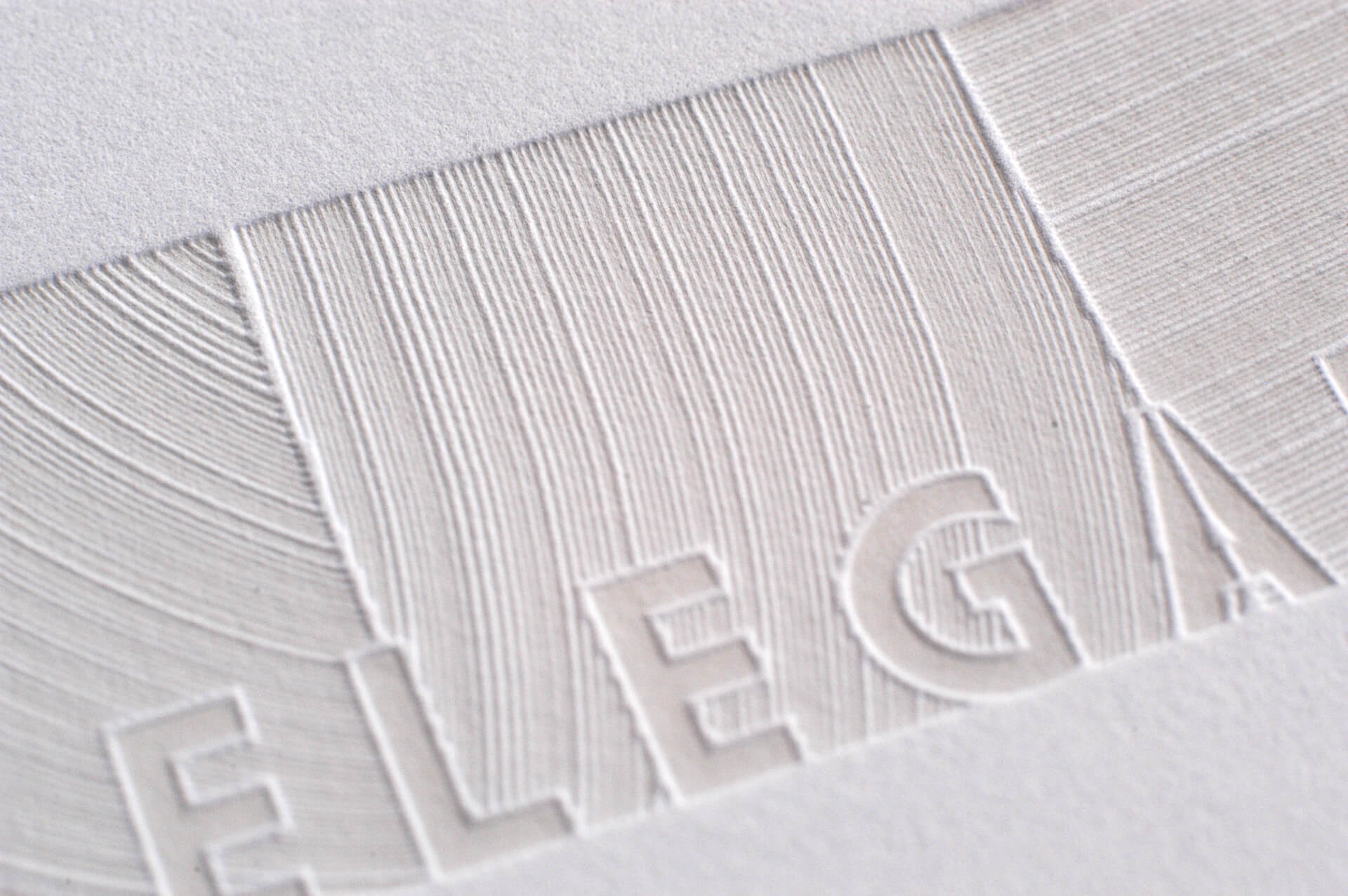 Elegant Letterpress for a paper swatch book