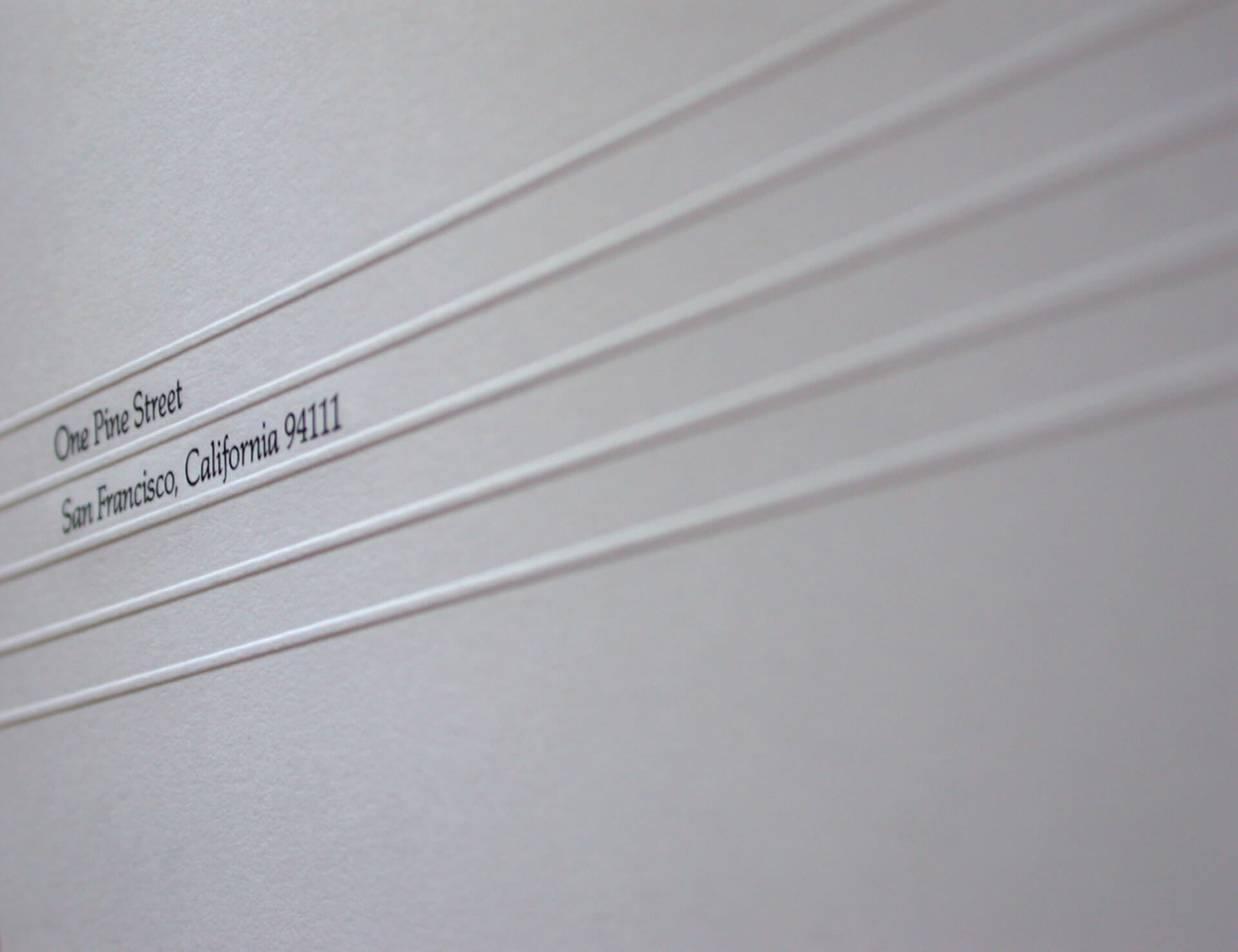 Letterhead with blind embossing and engraved steel embossing