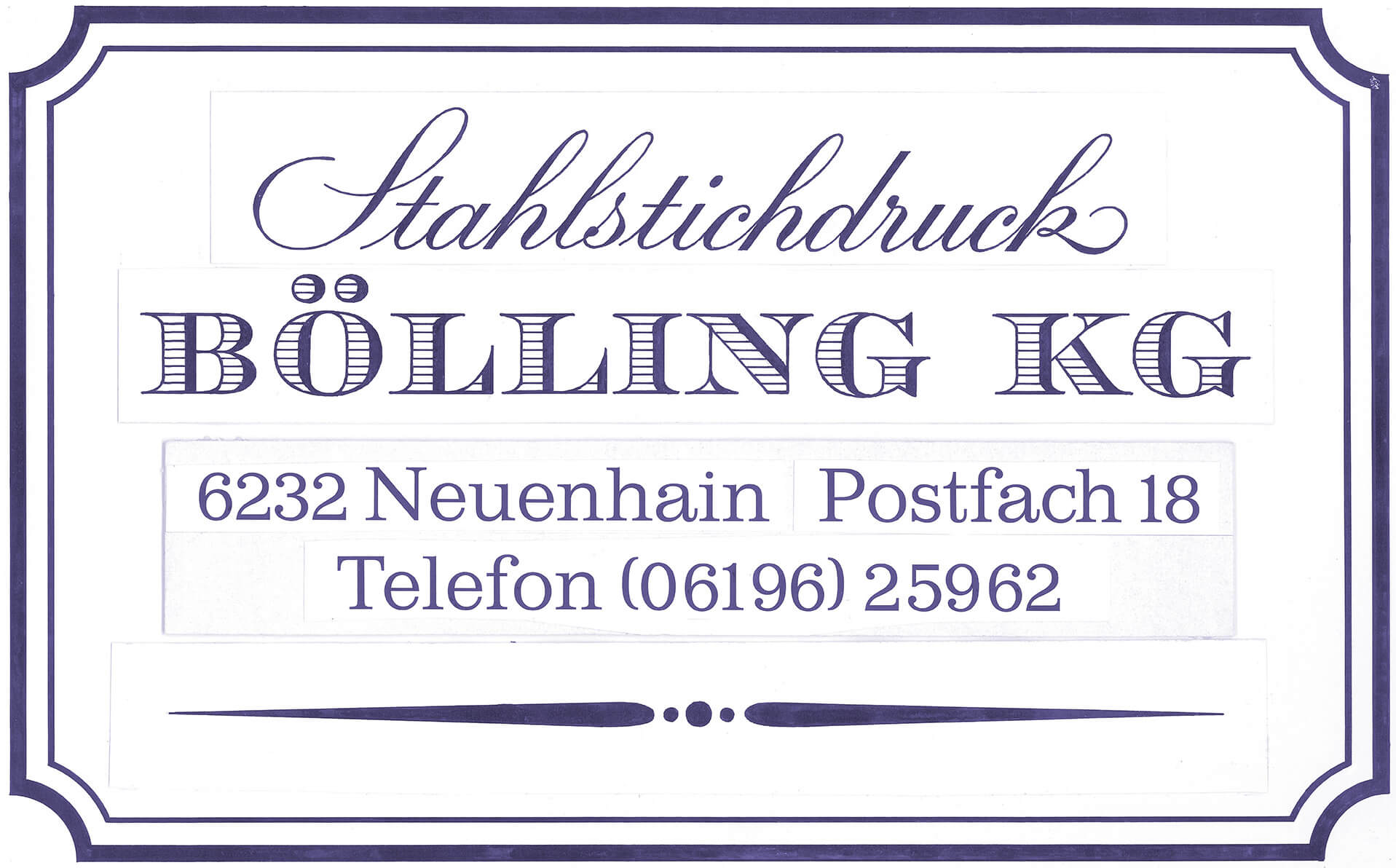 Logo of Stahlstichdruck Bölling KG when the company was founded
